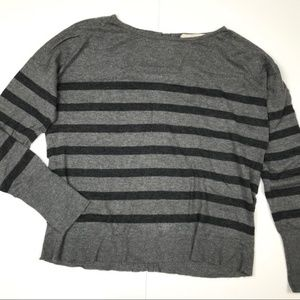 LOFT gray cardigan medium
